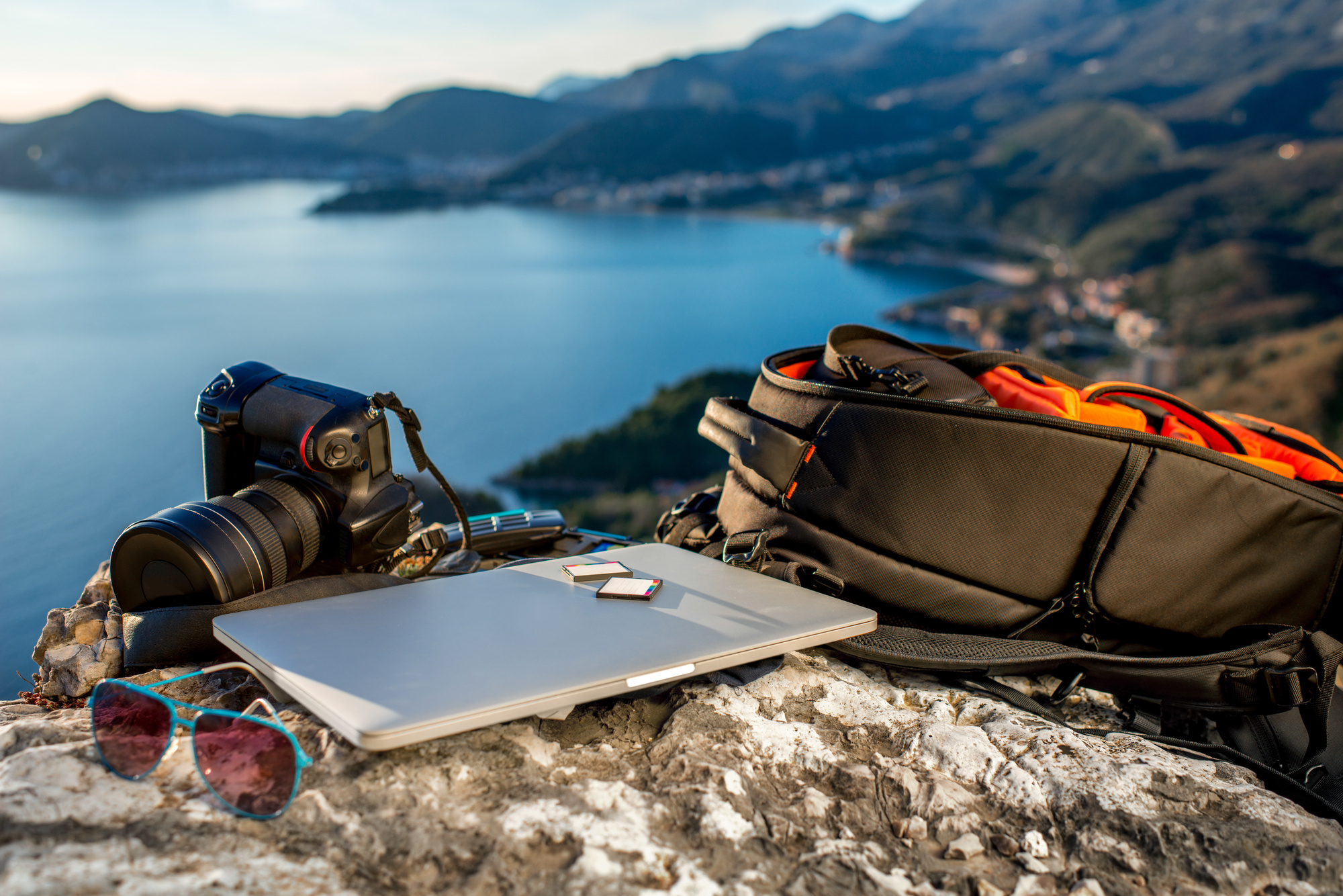 travel accessories and laptop